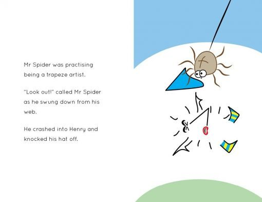 Henry the Hedgegnome The unfunny clown - Mr Spider