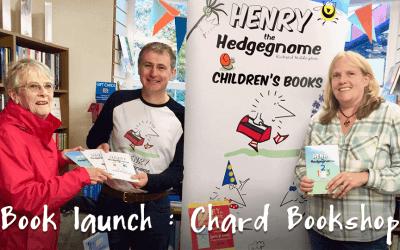 Children's author, Richard Heddington, returns to Chard to launch his 5th children's book.