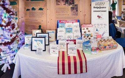Children's book writer visits Ferne Animal Sanctuary Christmas Fair.