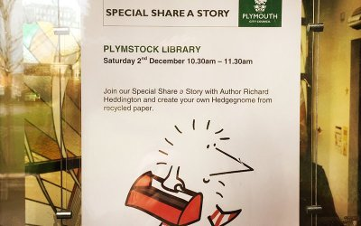 Plymouth children's author at Plymstock Library for Share a Story morning.
